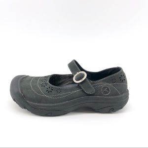 Keen Leather Mary Jane Shoes 7.5 Black 7 Comfort
